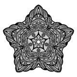 传染媒介美丽的Deco黑色星 免版税库存照片