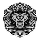 传染媒介美好的Deco黑色三角 图库摄影