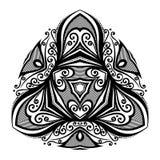 传染媒介美好的Deco黑色三角 免版税库存照片