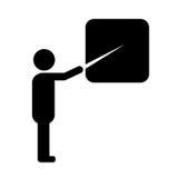 传染媒介老师标志 库存图片
