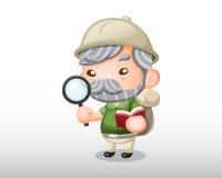 传染媒介考古学家例证 免版税库存图片