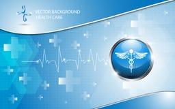 传染媒介背景商标医疗保健概念 免版税库存图片