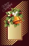 传染媒介背景圣诞节和新年 库存照片