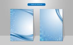 传染媒介背景波浪和长方形样式盖子设计 免版税库存照片
