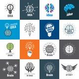 传染媒介脑子商标 免版税库存图片