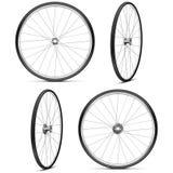 传染媒介自行车车轮 向量例证