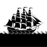 传染媒介船设置与分开的编辑可能的元素 免版税库存图片
