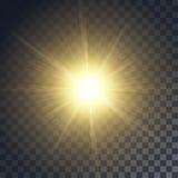 传染媒介黄色太阳 免版税库存图片