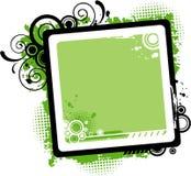 传染媒介绿色漩涡框架 免版税库存照片