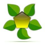 传染媒介绿色留下概念性背景 库存照片