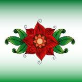 传染媒介色的花卉背景 与花的乱画手拉的装饰品 也corel凹道例证向量 免版税库存图片