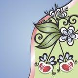 传染媒介色的花卉背景 库存图片