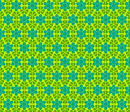 传染媒介绿色花卉无缝的样式 免版税库存照片