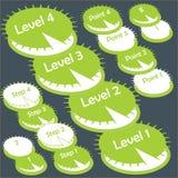 传染媒介绿色逐步的信息图表 库存照片