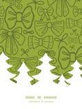 传染媒介绿色鞠躬圣诞树剪影 免版税图库摄影
