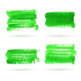 传染媒介绿色水彩横幅收藏 免版税图库摄影