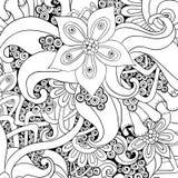传染媒介花卉装饰背景 免版税库存图片