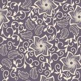 传染媒介花无缝的样式元素 背景的典雅的纹理 古典豪华古板的花饰 向量例证
