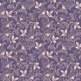 传染媒介花无缝的样式背景 背景的典雅的纹理 古典豪华古板花卉 皇族释放例证
