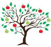 传染媒介苹果树 免版税库存照片