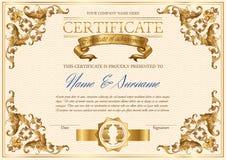 传染媒介葡萄酒证明 库存例证