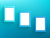 传染媒介3蓝色框架设计有背景 免版税图库摄影
