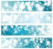 传染媒介蓝色横幅 免版税库存图片