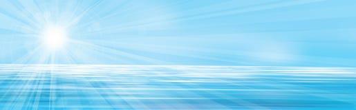 传染媒介蓝色海背景 图库摄影