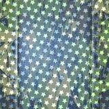 传染媒介蓝色牛仔裤与星的纹理例证 库存照片