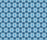 传染媒介蓝色花卉无缝的样式 库存图片