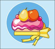 传染媒介蛋糕用果子 皇族释放例证