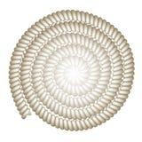 传染媒介绳索螺旋背景 免版税图库摄影