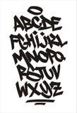传染媒介街道画字体 手写的字母表 库存例证