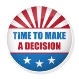 传染媒介表决美国总统选举徽章 免版税图库摄影