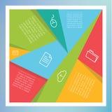 传染媒介被打碎的马赛克-模板。五颜六色摘要马赛克w 免版税库存图片