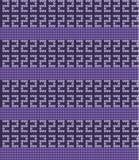 传染媒介被编织的几何样式 免版税库存照片