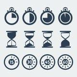 传染媒介被设置的定时器象 向量例证