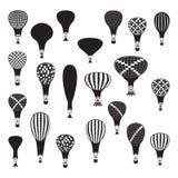 传染媒介被设置的热空气气球 免版税库存图片