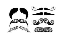 传染媒介被隔绝的髭剪影 向量例证