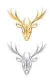 传染媒介被隔绝的鹿头 免版税库存图片