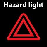 传染媒介被隔绝的仪表板道路危险标志 仪表板警报信号 例证 DTC 危险象 向量例证