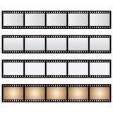 传染媒介组装被隔绝的影片小条 免版税库存照片