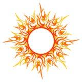 传染媒介装饰品,抽象太阳,火 免版税库存照片
