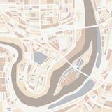 传染媒介装饰城市地图 库存照片