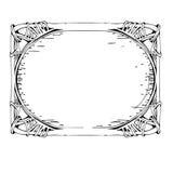 传染媒介装饰葡萄酒框架1 皇族释放例证