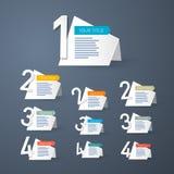 传染媒介讲解的进展步 免版税库存图片