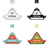 传染媒介设计三角标号组 皇族释放例证