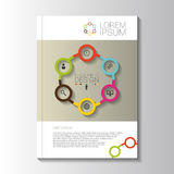 传染媒介设计与infographic元素的颜色飞行物 模板 免版税图库摄影