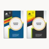 传染媒介设计盖子在A4大小的设计小册子 库存照片