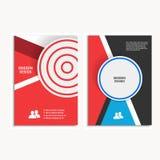 传染媒介设计盖子在A4大小的设计小册子 库存图片